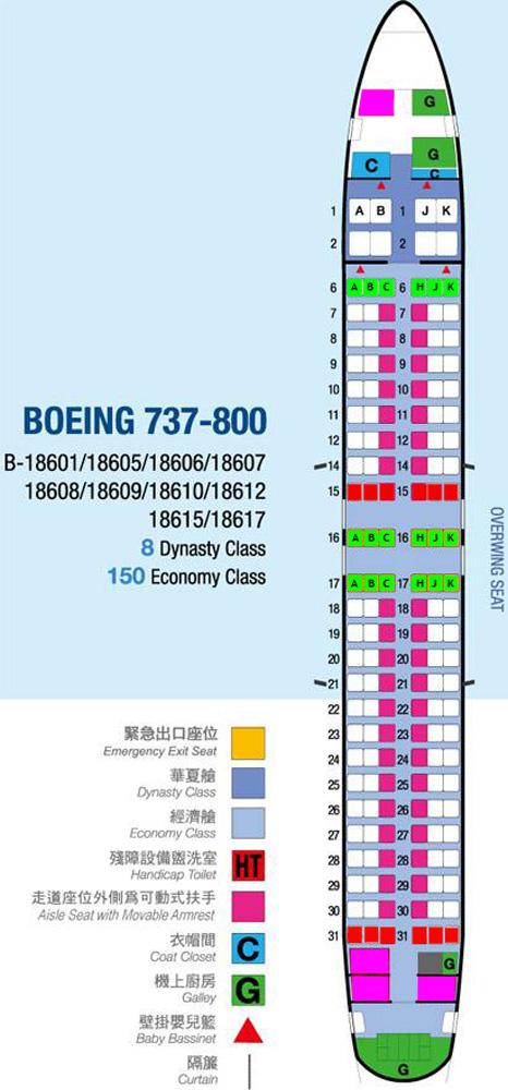 Boeing 737-800 oturma planı