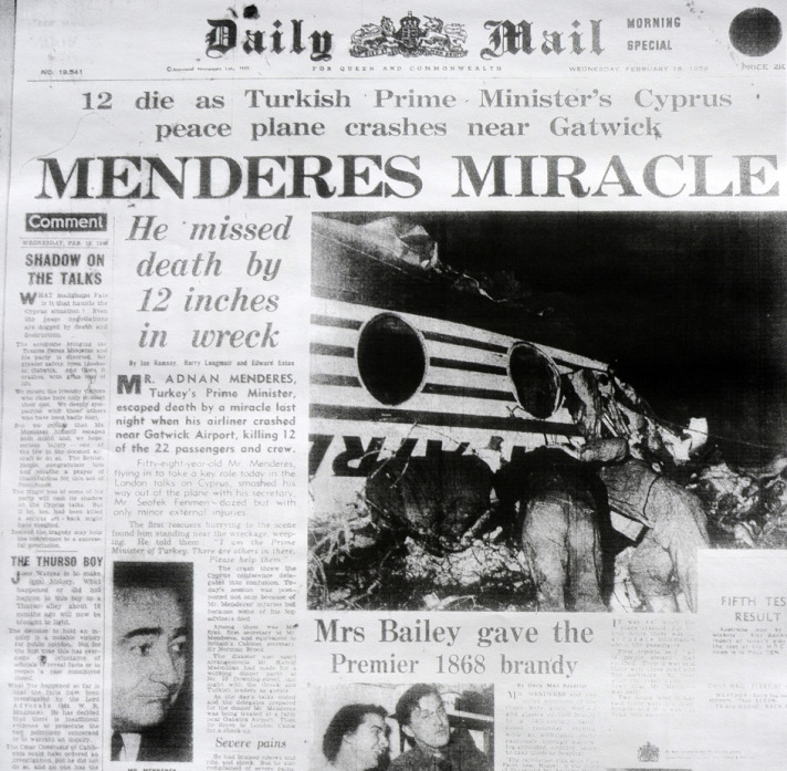 Adnan Menderes'in Uçak Kazası