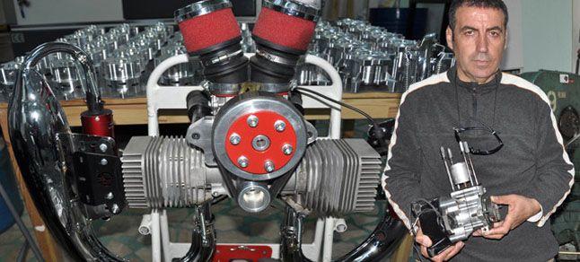 Emekli uçak teknisyeninden 'iki zamanlı' motor
