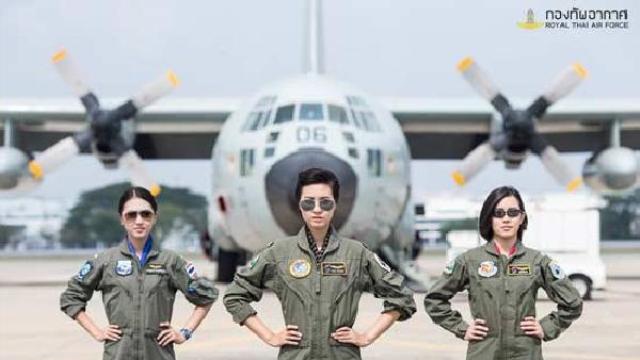 Tayland Kraliyet Hava Kuvvetleri' nde bir ilk