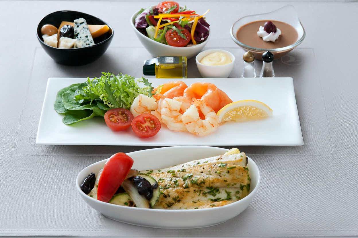 Uçuşlardaki yemek menülerindeki ayrıntılar