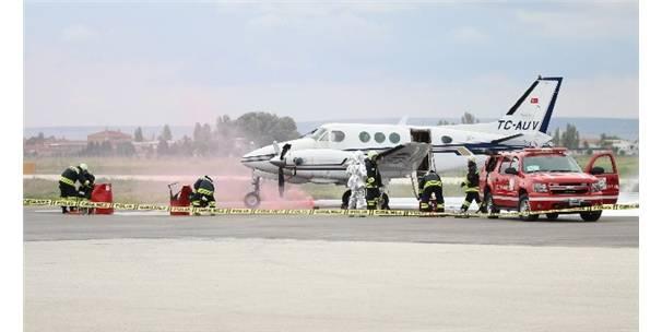 Eskişehir'de Uçak Kazası Tatbikatı