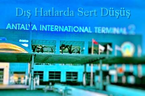 Antalya Dış Hatlarda Sert Düşüş