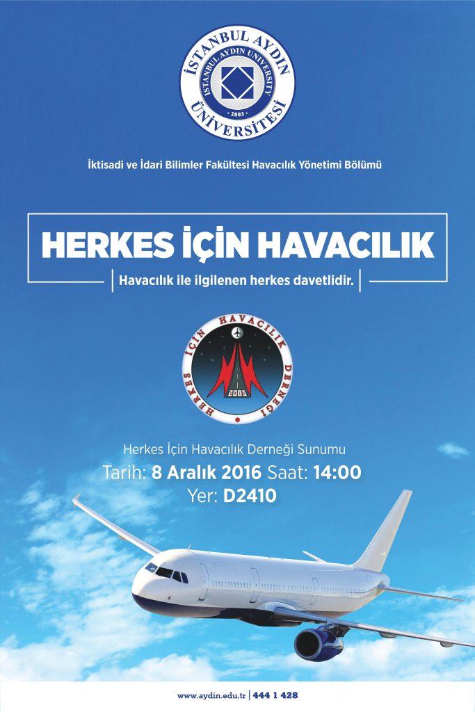 Herkes İçin Havacılık Derneği İstanbul Aydın Üniversitesi'nde